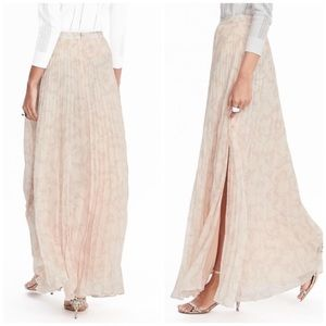 Banana Republic Skirts - Pleated Maxi Skirt in Cream Floral Print